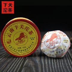 "Xiaguan 2014 Yunnan Tuocha Tea ""The Year of Horse"" Premium Raw Pu Erh Tuo Cha 100g"