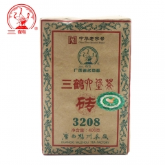Three Cranes Sanhe 2014 Liu Pao Tea 3208 Golden Flower Dark Tea China Tea Hei Cha 400g