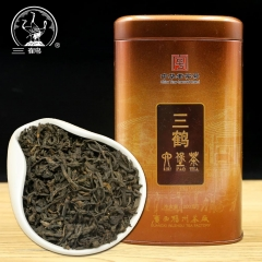 Three Cranes Chinese Tea Sanhe 2017 Guangxi Liu Pao Teas Liubao Cha Loose Dark Tea Copper Jar 200g
