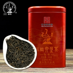 Three Cranes Sanhe 2019 Liu Pao Tea Dark Tea Heicha Wuzhou Teas Red Jar 200g