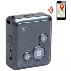 V18 Real Time GSM Mini Tracker GPRS Tracking SOS Communicator(Black)
