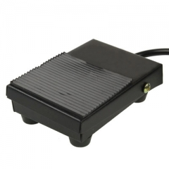TFS-1 AC 250V 10A Anti-slip Plastic Case Foot Control Pedal Switch, Cable Length: 1m