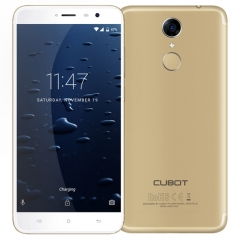 [HK Stock] CUBOT Note Plus, 3GB+32GB, Fingerprint Identification, 5.2 inch Android 7.0 MTK6737T Quad-Core up to 1.5GHz, Network: 4G, Dual SIM(Gold)
