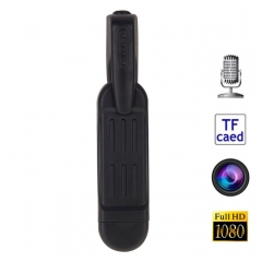 T189 8MP Full HD 1080P Mini Pen Voice Recorder / Digital Video Camera with Clip, Support TF Card, TV Out(Black)