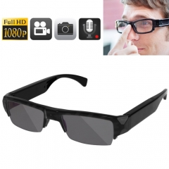 Full HD 1080P 5.0 Mega Pixels CMOS Glasses / Mini DVR Recorder Hidden Camera with Audio / Video Recording / Photo Function, Support TF Card up to 32GB
