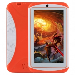 Kids Education Tablet PC, 7.0 inch, 512MB+4GB, Android 4.4 Allwinner A33 Quad Core, WiFi / Bluetooth, with Holder Silicone Case(Orange)