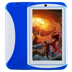 Kids Education Tablet PC, 7.0 inch, 512MB+4GB, Android 4.4 Allwinner A33 Quad Core, WiFi / Bluetooth, with Holder Silicone Case(Blue)