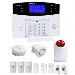 YA-500-GSM-27 12 in 1 Kit Wireless 315/433MHz GSM SMS Security Home House Burglar Alarm System with LCD Screen