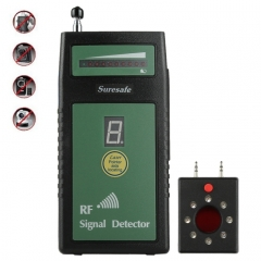 Suresafe SH-055U8LP Auto Threshold RF Signal Detector Camera Detector with 8 LEDs, Detection Frequency: 50 MHz-6.0 GHz, US/EU/UK Plug, AC 100-240V