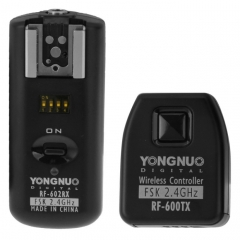 YONGNUO RF-602/C Wireless Flash Trigger Transmitter + Receiver Set with 3.5mm PC Sync Cord for Canon Camera(Black)