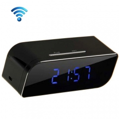 P2P Network Mini IP Camera H.264 HD 720P Wifi Clock Camera, Support Night Vision / Motion Detection(Black)