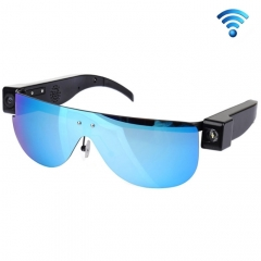 HD 720P 2.0 Megapixel WiFi Sports Sunglass Camera, 120 Degree Wide Angle HD Lens(Blue)