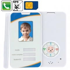 Kid GPS Phone Tracker Pre-set 4 Phone Numbers Online Real Time Tracking Web Free Tracking System SOS Function Smart Card, 2.4G RFID Function (KH-D618A)(White)