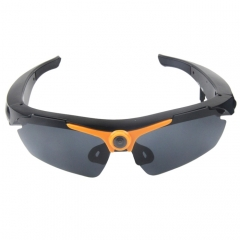 2 in 1 Sports Sunglasses + 1.3 Megapixel Camera, 70 Degree Wide Angle HD Lens, Support TF(Orange)