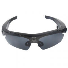 2 in 1 Sports Sunglasses + 1.3 Megapixel Camera, 70 Degree Wide Angle HD Lens, Support TF(Black)
