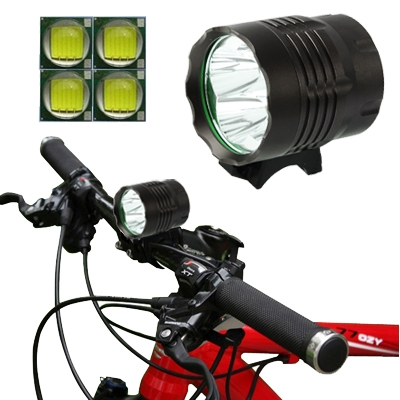 3 Mode Bicycle Lamp / Head Lamp with 4x CREE XM-L T6 LED Light, Luminous Flux: 4800lm