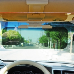 2 in 1 HD Car Anti-Glare Dazzling  Day Night Vision Driving Mirror Sun Visors