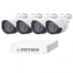 COTIER N4B-Mini/L 4 Ch 720P 1.0 Mega Pixel IP Camera NVR Kit, Support Night Vision / Motion Detection, IR Distance: 20m
