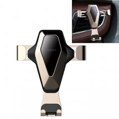 ROCK Gravity Air Vent Car Phone Holder Mount, For iPhone, Galaxy, Sony, Lenovo, HTC, Huawei, and other Smartphones(Gold)