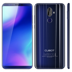 [HK Stock] CUBOT X18 Plus, 4GB+64GB, Dual Back Cameras, Fingerprint Identification, 4000mAh Battery, 5.99 inch Android 8.0 MTK6750T Octa-Core up to 1.5GHz, Network: 4G, Dual SIM(Blue)