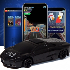 Mini Man-machine Interaction Hello AR Car, Virtuality and Reality Interaction AR Gaming Equipment (Black)