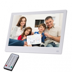 11.6 inch FHD LED Display Digital Photo Frame with Holder & Remote Control, MSTAR V56 Program, Support USB / SD Card Input (White)