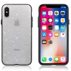 For iPhone X Shimmering Powder PC Protective Back Cover Hard Case (White)