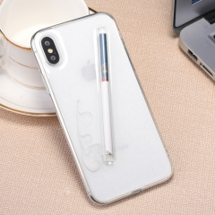 For iPhone X Cigarette Pattern Protective Back Cover Soft Case