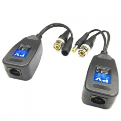 2 PCS Anpwoo 205PV  2 in 1 Power + Video Balun HD-CVI/AHD/CVI Passive Twisted Transceiver