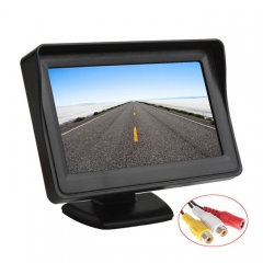 PZ-703 4.3 inch TFT LCD Car Rearview Monitor with Stand and Sun Shade