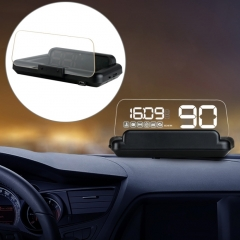 C500 Car HUD Virtual HD Projection Head-up Display, With Adjustable Reflection Board, Speed & RPM & Water Temperature & Oil Consumption & Driving Distance / Time & Voltage Display, Over Speed Alarm, C