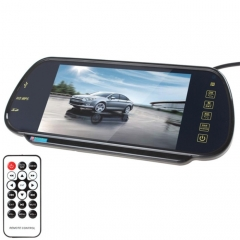 PZ-710 7.0 inch TFT LCD Car Rearview Mirror Monitor with Remote Control, Support Bluetooth / MP5 Player
