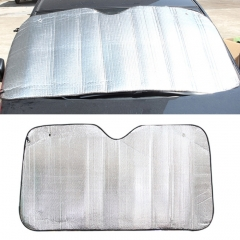 Silver Aluminum Foil Sun Shade Car Windshield Visor Cover Block Front Window Sunshade UV Protect, Size: 130*60cm