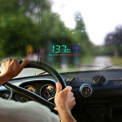 A2 HUD 3.5 inch HD GPS Car Head Up Display, Speed & Over Speed Alarm, Compass, Freely Switch Between Kilometers and Miles(Black)