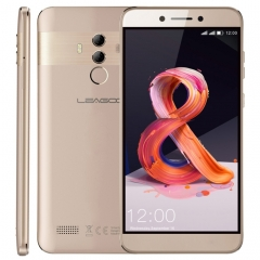 [HK Stock] LEAGOO T8S, 4GB+32GB, Dual Back Cameras, Face ID & Fingerprint Identification, 5.5 inch Android 8.1 MTK6750T Octa Core up to  1.5GHz, Network: 4G, Dual SIM(Gold)