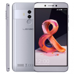 [HK Stock] LEAGOO T8S, 4GB+32GB, Dual Back Cameras, Face ID & Fingerprint Identification, 5.5 inch Android 8.1 MTK6750T Octa Core up to  1.5GHz, Network: 4G, Dual SIM(Grey)