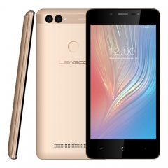 [HK Stock] LEAGOO POWER 2, 2GB+16GB, Dual Rear Cameras, Face ID & Fingerprint Identification, 5.0 inch Android 8.1 MT6580A Quad Core up to 1.3GHz, Network: 3G, Dual SIM(Gold)