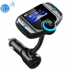 BT70 Smart Bluetooth 4.2 FM Transmitter QC3.0 Quick Charge MP3 Music Player Car Kit with 1.7 inch Screen, Support Hands-Free Call