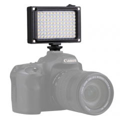 [UAE Stock] PULUZ Pocket 96 LEDs 860LM Professional Photography Video & Photo Studio Light with White and Orange Magnet Filters Light Panel for Canon, Nikon, DSLR Cameras