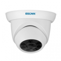 ESCAM QH001 ONVIF H.265 1080P P2P IR Dome IP Camera with Smart Analysis Function, Support Night Vision and Motion Detection(White)