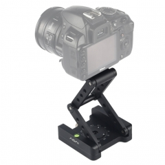 ADAI 360 Degree Rotation 3-Folding CNC Aluminum Quick Release Plate Holder Tripod M Flex Tilt & Ball Head (Black)