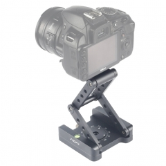 ADAI 360 Degree Rotation 3-Folding CNC Aluminum Quick Release Plate Holder Tripod M Flex Tilt & Ball Head (Grey)