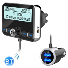 DAB002 Car DAB Dual USB Charging Smart Bluetooth Digital FM Transmitter MP3 Music Player Car Kit, Support Hands-Free Call  & TF Card