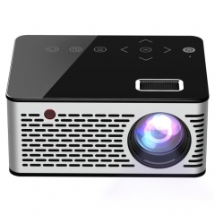T200 500ANSI Lumens 1080P Full HD Touch Control Mini Home Entertainment Smart Projector, Built-in Speaker, Support AV / HDMI / TF Card (Black)