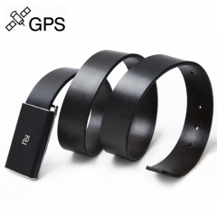 Men Genuine Leather Cowhide Belt GPS Tracker Device Smart Portable Real-Time Multi-functional Locator