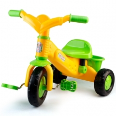 Tricycle Bicycle  Bike With Bucket (Colour: Yellow tricycle)