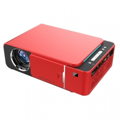 T6 3500ANSI Lumens 1080P LCD Technology Mini Portable HD Theater Projector, Support WiFi , HDMI, AV, VGA, USB(Red)