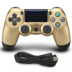 Wired Game Controller for Sony PS4(Gold)