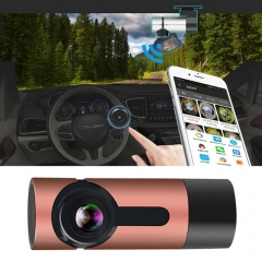 G6 170 Degrees Wide Angle Full HD 1080P Video Car DVR, Support TF Card / WIFI / Loop Recording, with Starlight Night Vision Function(Rose Gold)