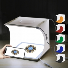 PULUZ Mini LED Photography Shadowless Light Lamp Panel Pad + Studio Shooting Tent Box, Acrylic Material, 20cm x 20cm Effective Area